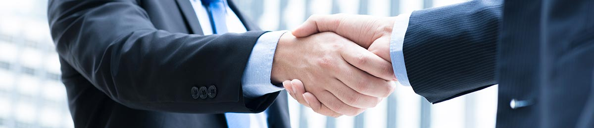 Buisnessmen shaking hands